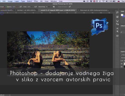 Photoshop Pattern – dodajanje vodnega žiga v sliko