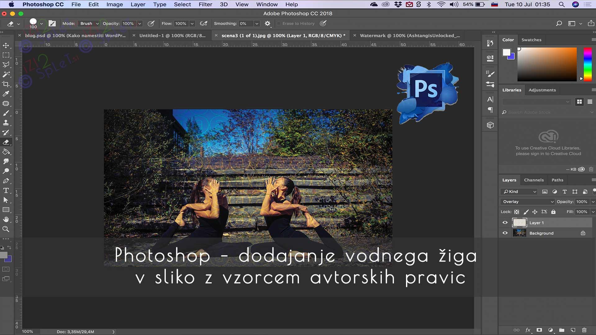 Photoshop Pattern - dodajanje vodnega žiga v sliko